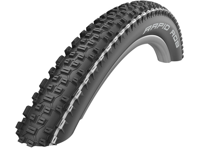 """SCHWALBE Rapid Rob Active Wired-on Tire K-Guard SBC 26x2.25"""" black/white"""